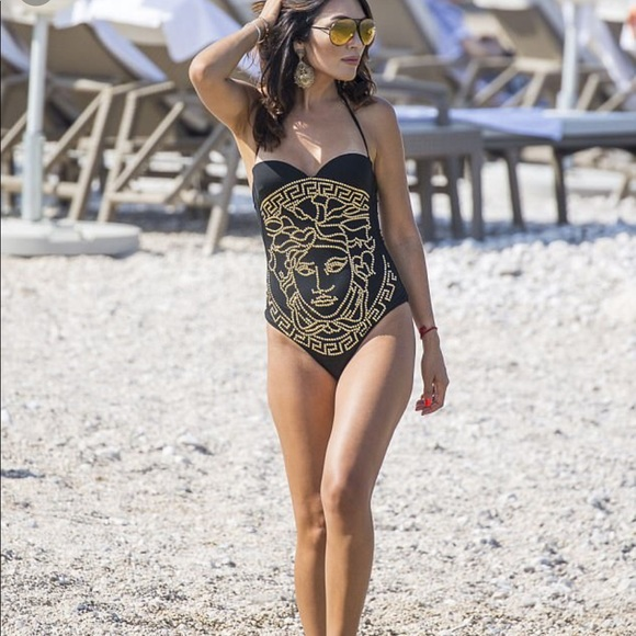 758695c1f20 Versace Swim | Medusa One Piece Black Bathingsuit | Poshmark
